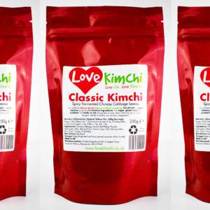 Classic Kimchi Front Pouch Vegan Vegetarian Plant Based UK Love Kimchi
