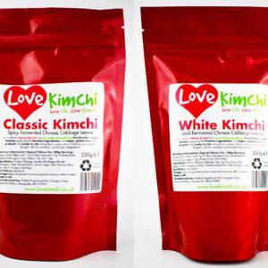 Classic Kimchi Front Pouch Vegan Vegetarian Plant Based UK Love Kimchi White Kimchi Combo