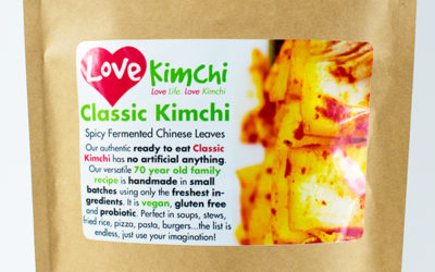 Love Kimchi Classic Kimchi Vegan Korean Food Catering Pop up Plant based Gluten free probiotic biodegradable