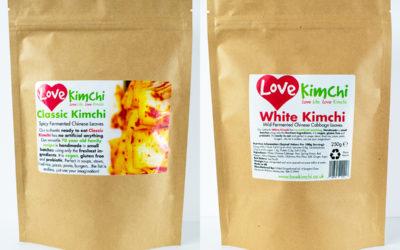Love Kimchi Classic Kimchi White Kimchi Combo Vegan Korean Food Catering Pop up Plant based Gluten free probiotic biodegradable