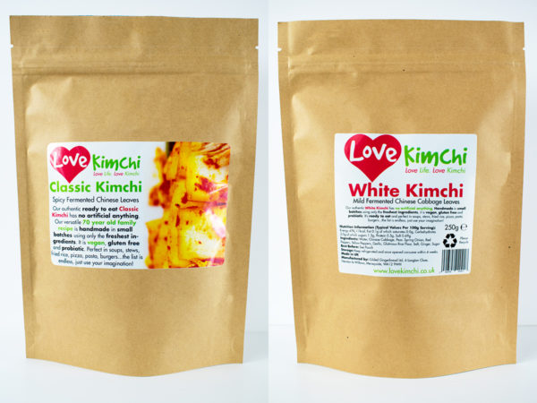 Love Kimchi Classic Kimchi White Kimchi Combo Vegan Korean Food Catering Pop up Plant based Gluten free probiotic biodegradable