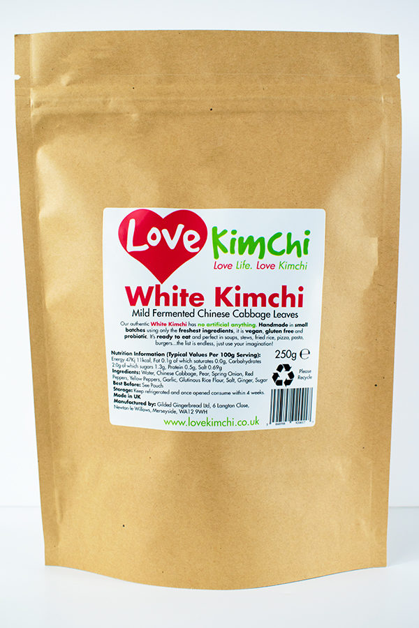 Love Kimchi White Kimchi Vegan Korean Food Catering Pop up Plant based Gluten free probiotic biodegradable