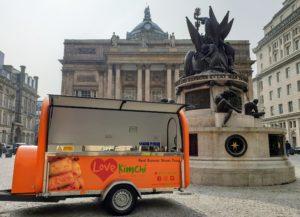 Love Kimchi catering Trailer caterpods UK vegan Korean street food Kimchi