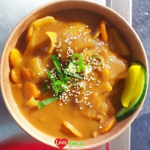 Vegan Katsu Curry Love Kimchi Korea street food caterer