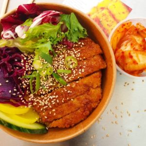 Vegan Teriyaki Chicken Love Kimchi Korea street food caterer