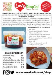 Kimchi Love Kimchi Vegan probiotic wholesale