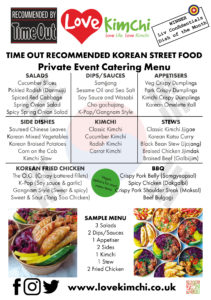 Love Kimchi event catering asian food korean chinese buffet vegan BBQ