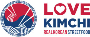 Love Kimchi Logo Real Korean Street Food Vegan Fried Chicken Noodles Rice