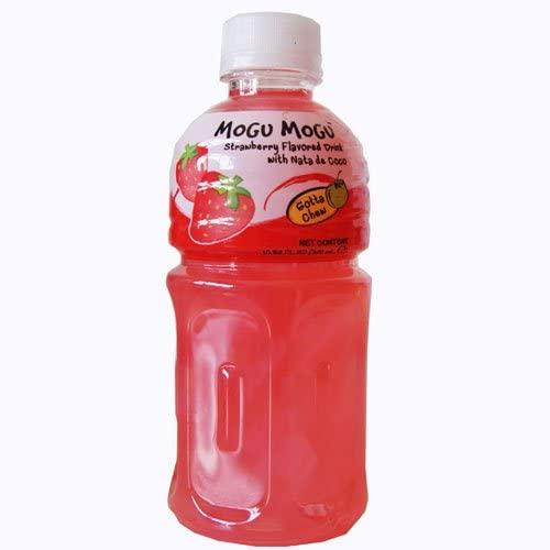 Love Kimchi Mogu Mogu Strawberry Flavoured Drink with Nata de Coco